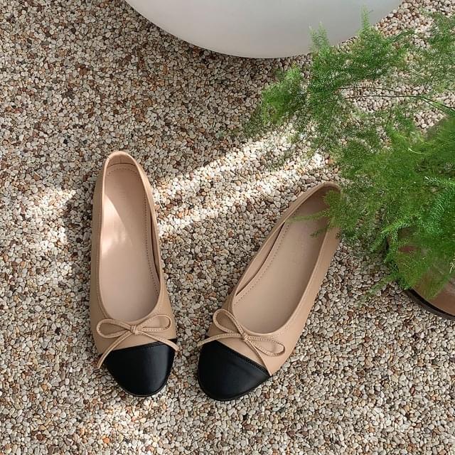 Soft Ribbon Color Flat Shoes 1cm 平底鞋