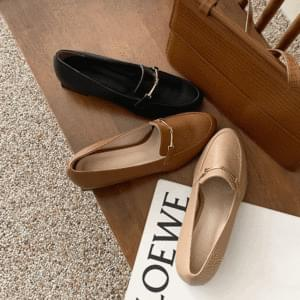Daily gold chain loafers 3cm