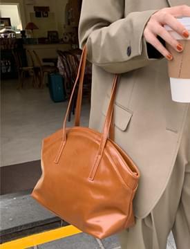 Muffin Zipper Leather Shoulder Bag