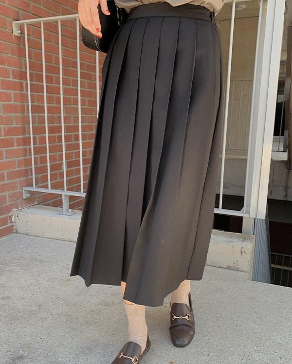 Loeve Pleated Long Skirt