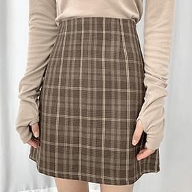 Julie Check Skirt