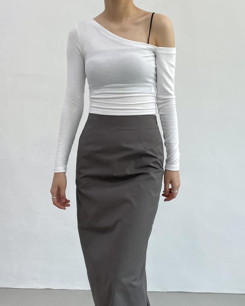 Unfooted Ribbed cropped T-shirt