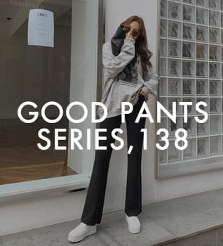 Good pants 138 shots / self-cutting wide banding Flared pants # 79284