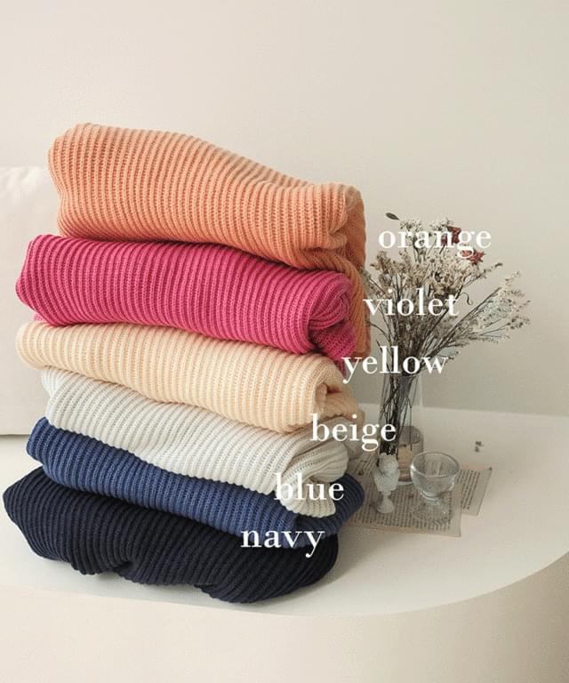 Big Size 55-120 Peton V-Neck Over Fit Hachi Knitwear