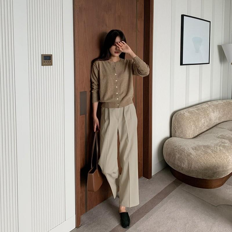 Lito Two Pin Tuck Wide Cotton Pants - 2 color 長褲