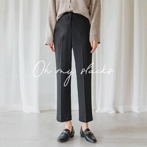 Jelly Straight Fit Slacks (S-XL Size)