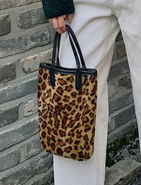 leopard mini tote bag