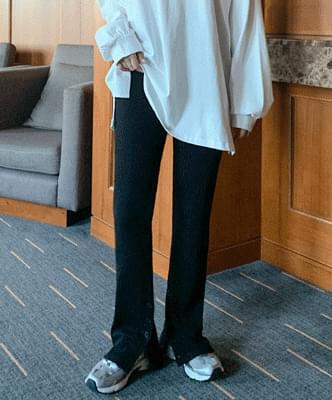 centering button long trousers