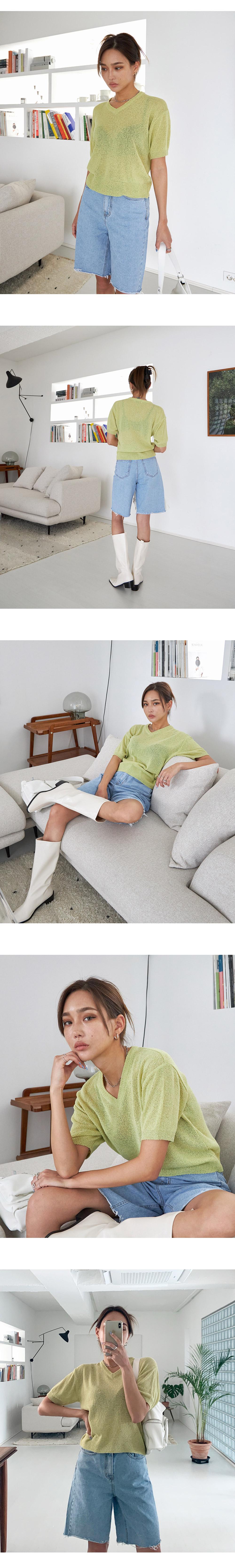 Summer V-Neck Knitwear