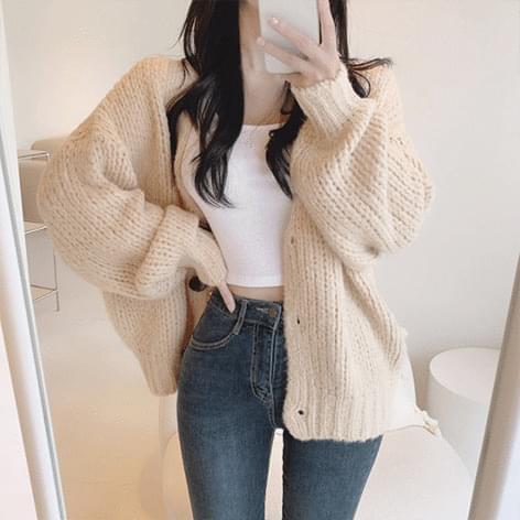 Rogeun Loose-fit Knitwear Cardigan 針織外套