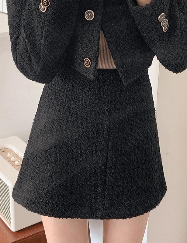 prather tweed mini skirt