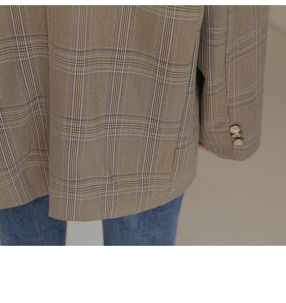 Check Oversized Jacket