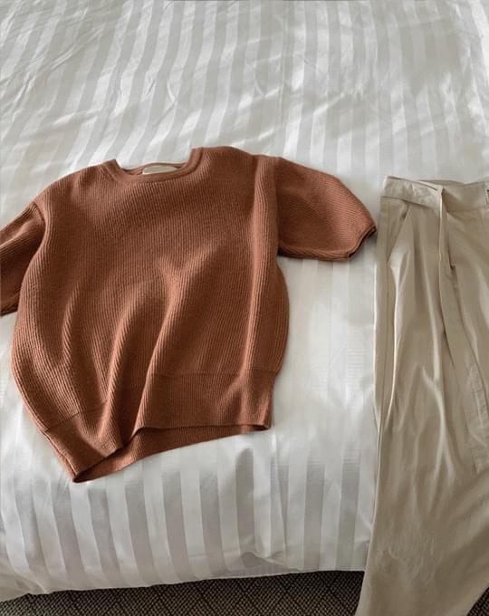 Reps Niju Round Short Sleeve Knitwear - 4 color