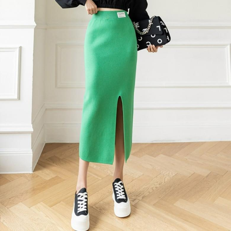 Popular Banding Candy Color Knitwear Skirt
