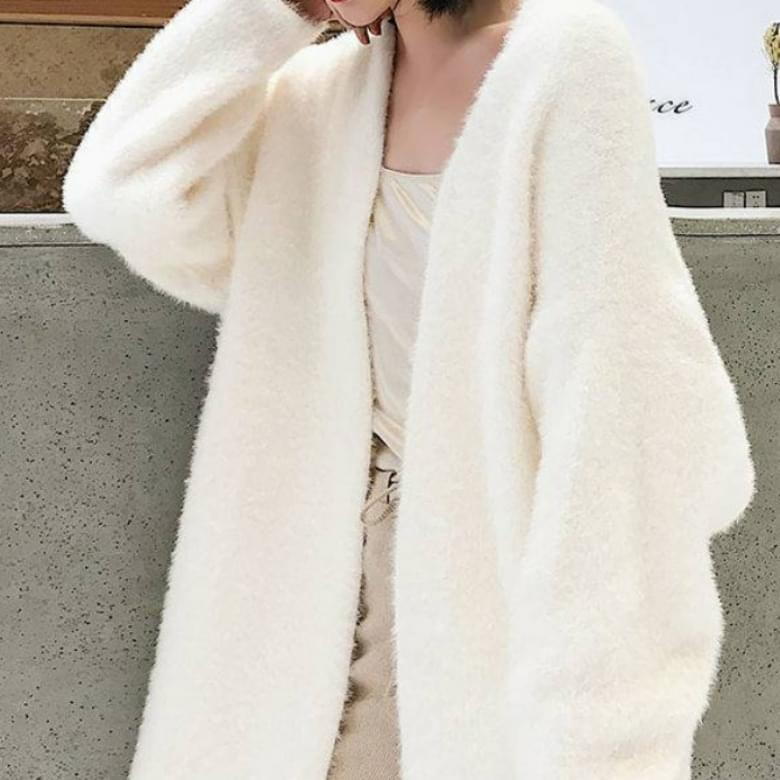 4 Color Soft Loose Fit Knitwear Long Cardigan
