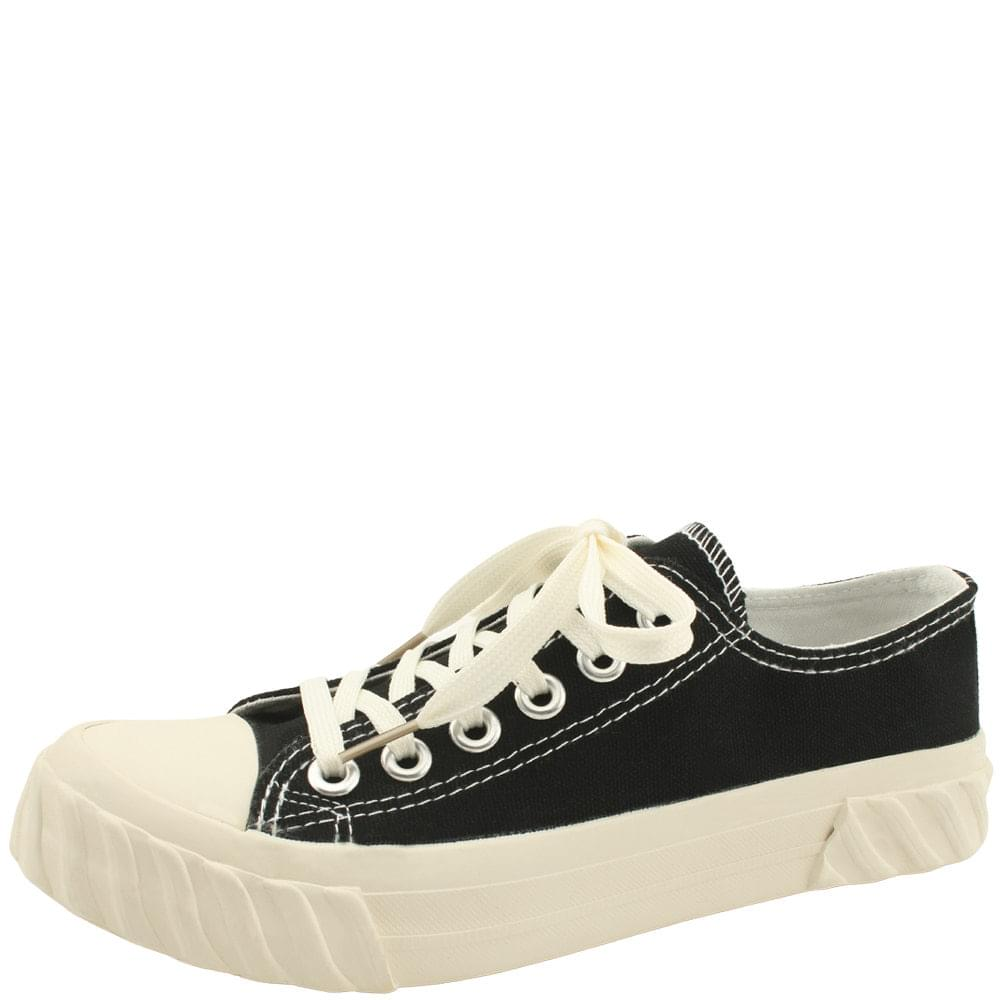 Canvas Low-Top Thong Sneakers Black