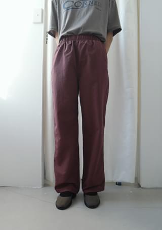 solid nylon banding pants