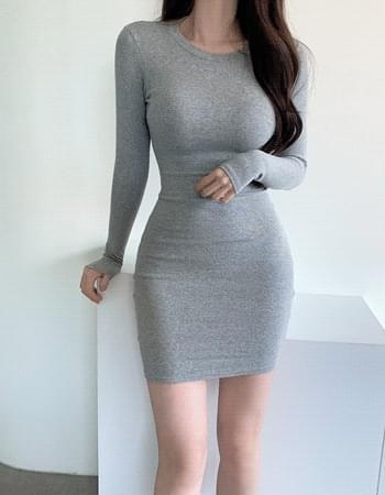 Dane tight fit cotton midi Dress