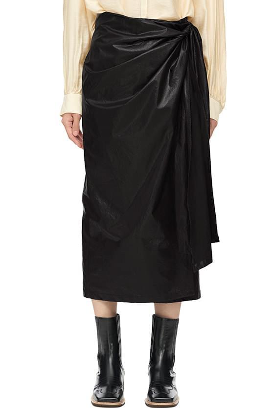 wrap coated long skirt