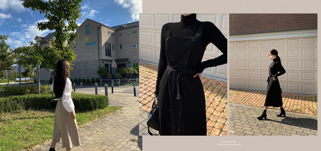 Same day shipping #AWABMADE:_Poel Trench Long Dress