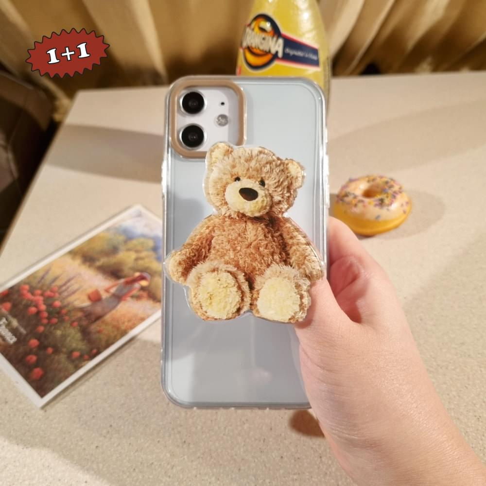 Blee Teddy Bear Grip Talk Set iPhone Case