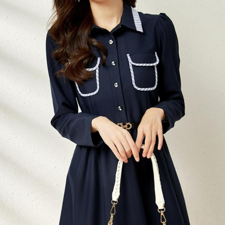 Office simple line Dress belt set