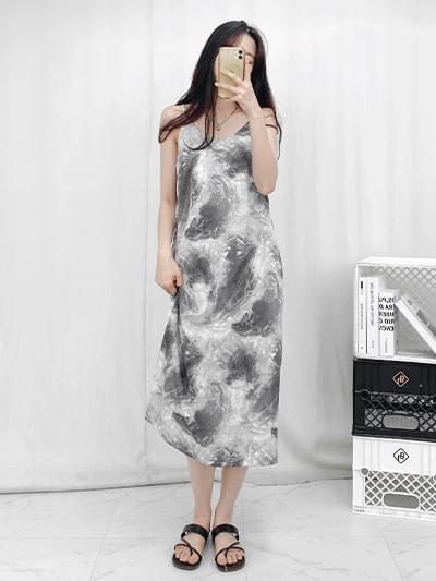 marble tie-dye Dress