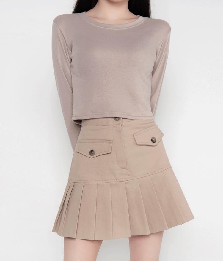 Basic Long Sleeve Crop T-Shirt 長袖上衣