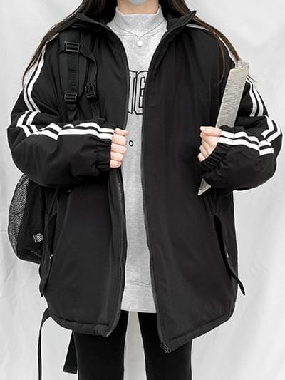 double line Padded Jacket