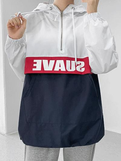 Suab color matching hood anorak