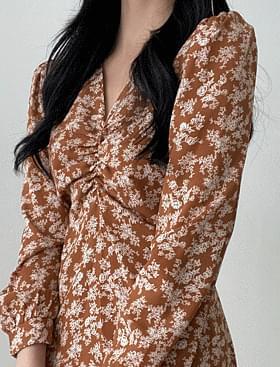 Fancy flower shirring OPS flower chiffon fabric :D