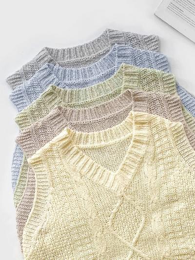Fluffy Bouquet Knitwear Vest