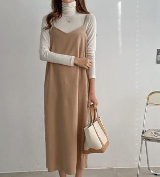 Ribbed Layered Long Dress #38109