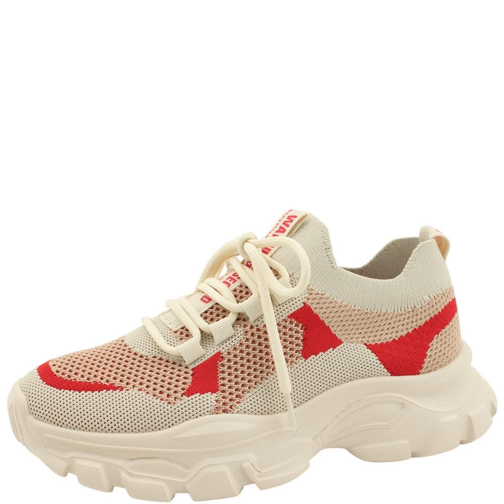 Knitwear Ugly Shoes Sneakers 5cm Beige
