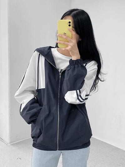 two-tone windbreaker Jacket