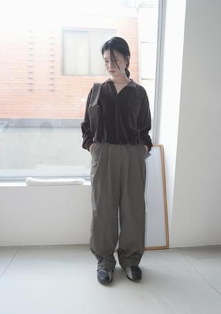 nylon stitch pintuck pants