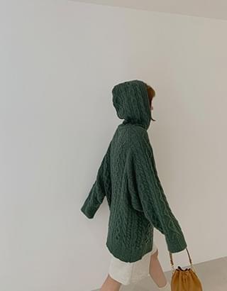Boy Twist Hooded Knitwear