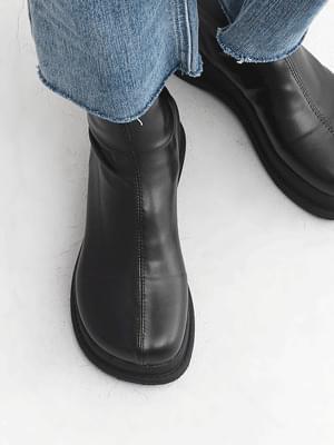Round Nose Whole Heel Platform Socks Boots 9165