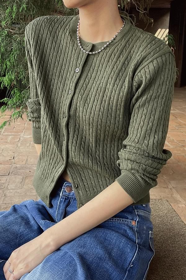 Rainy Twisted Knitwear Cardigan