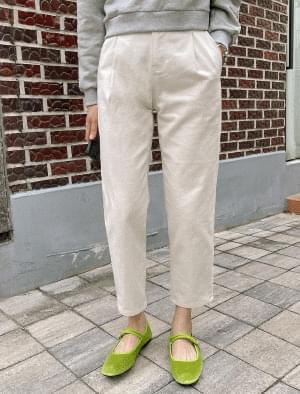 Bagel Pintuck Part 9 Cotton Pants