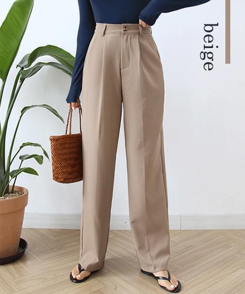 Becky pintuck wide long slacks