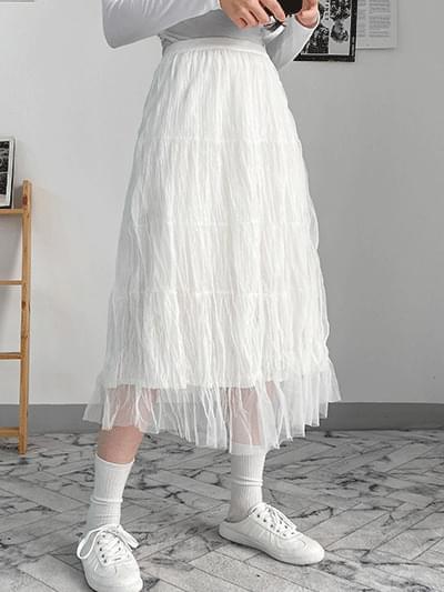 Ellin Chiffon Long Skirt