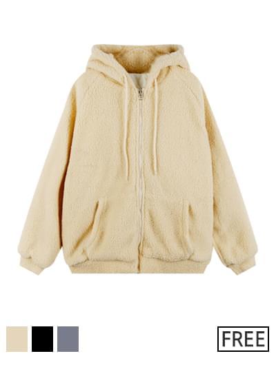 Kelly fleece hooded Jacket