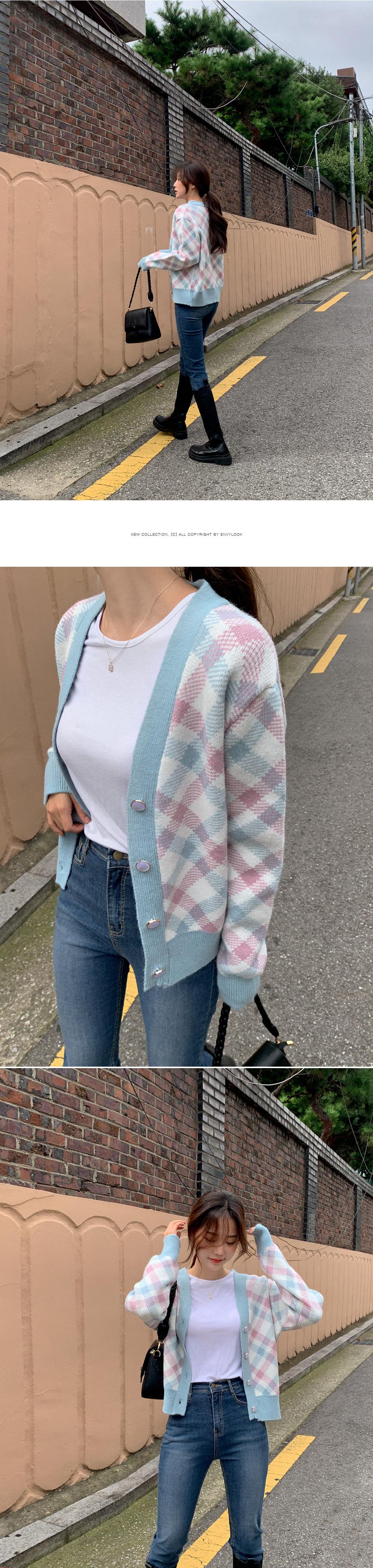 warm color cardigan