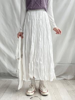 Berlin pleated long skirt