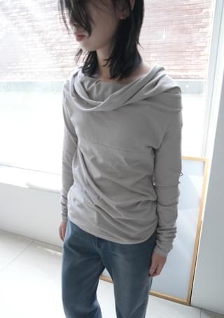 cowl neck draped top
