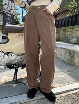 Street Loose-fit Wide Cotton Pants