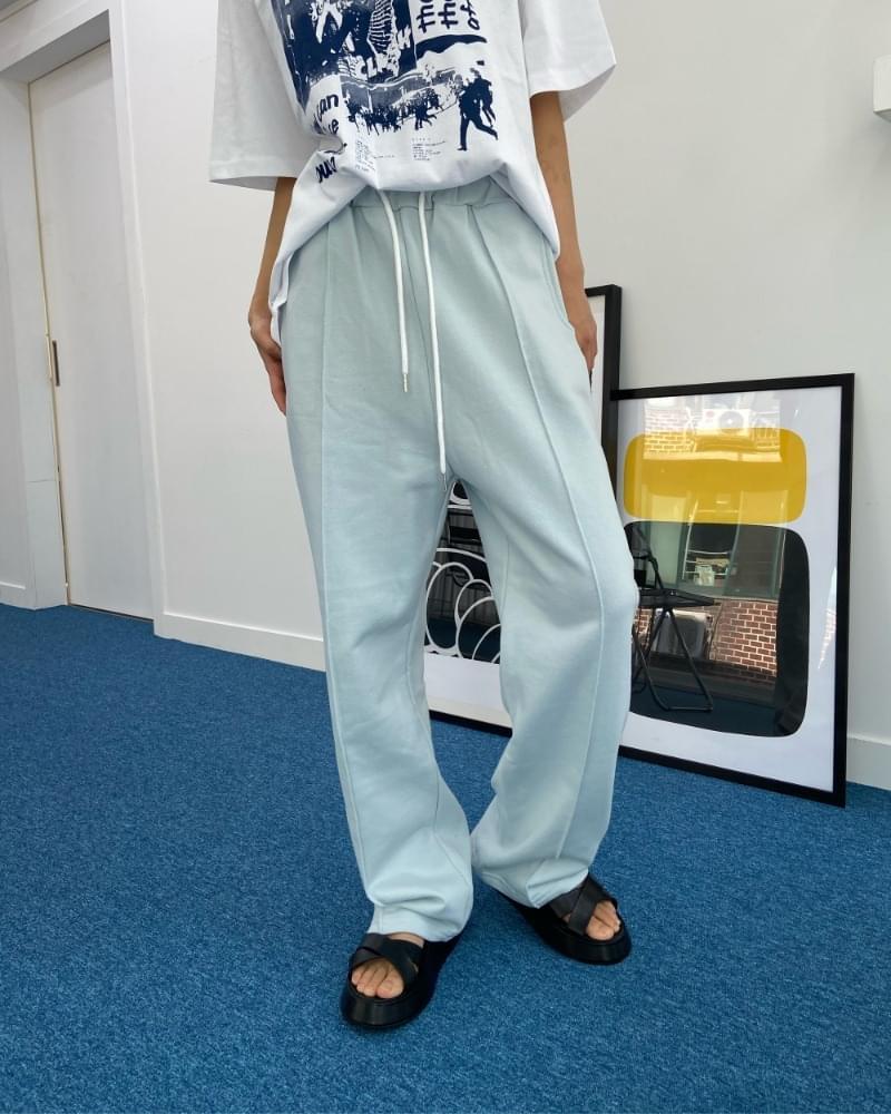 SS pintuck wide training pants 長褲