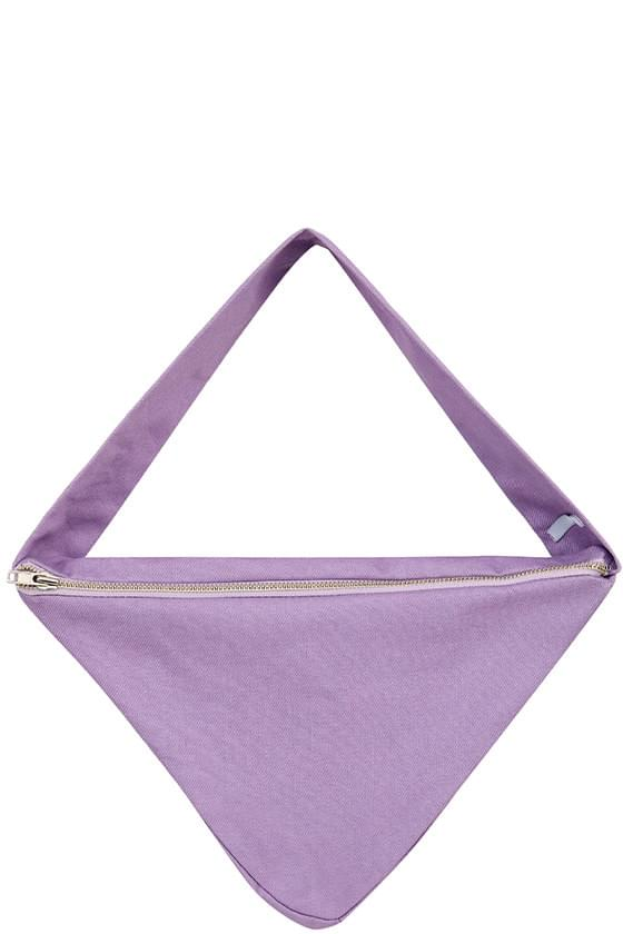 Hopper triangle cotton shoulder bag
