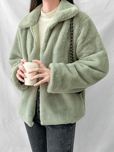 Blooming mink fur jacket